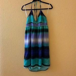 H&M Watercolor Halter Dress